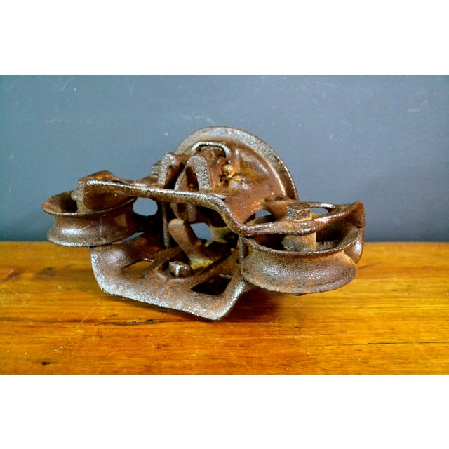 Vintage Industrial Hay Trolley, Double Pulley - Image 7 of 8