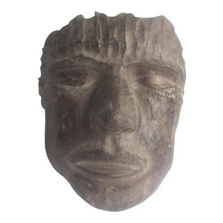 1993 Artisan Handmade Terra Cotta Mask For Sale