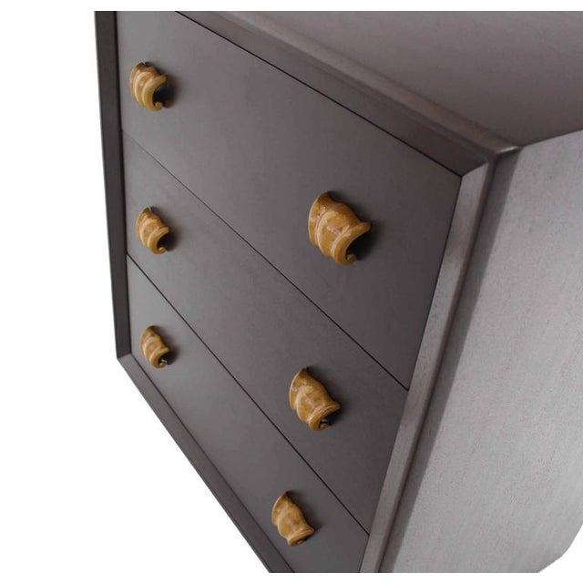 Pair of Three Drawer Bachelor Chests For Sale - Image 4 of 6