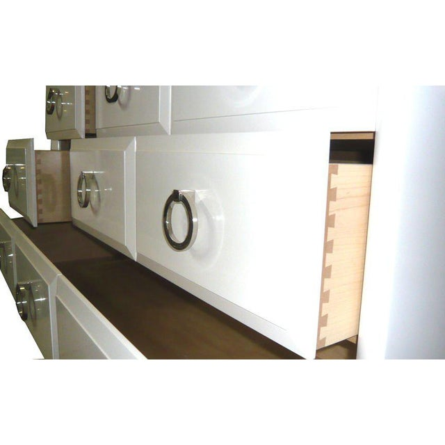 White Customizable Artem Lacquered Dresser For Sale - Image 8 of 8