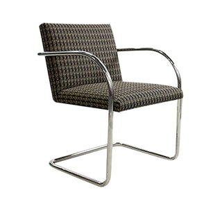 Replica Knoll Brno Tubular Side Sienna Patterned Chair For Sale