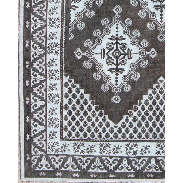 Keivan Woven Arts, Tu-Mtu-3488, Vintage Mid-Century Moroccan Rug - 8′8″ × 11′9″, Geometric Design Vintage Tribal Moroccan...