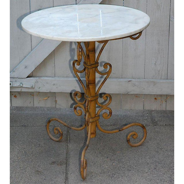 Mid-Century Modern Mid 19th Century English Round Garden Table For Sale - Image 3 of 11