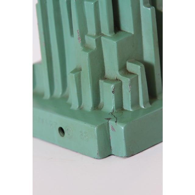 """Machine Age Art Deco Frankart """"Spirit of Modernism"""" Table Lamp #L215, A.V. Frankenberg 1928 For Sale - Image 9 of 11"""