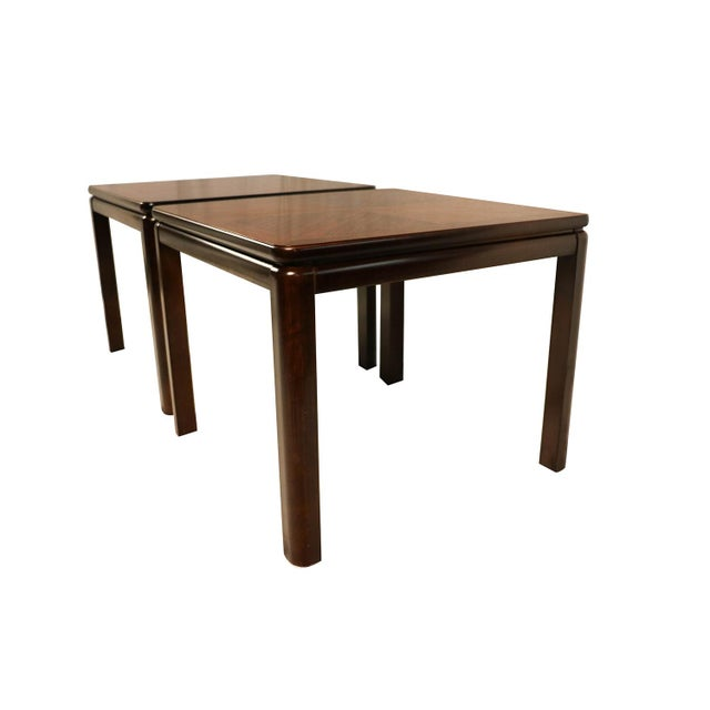 Mahogany Pair Mid Century Lane Rosewood Side Tables For Sale - Image 7 of 11