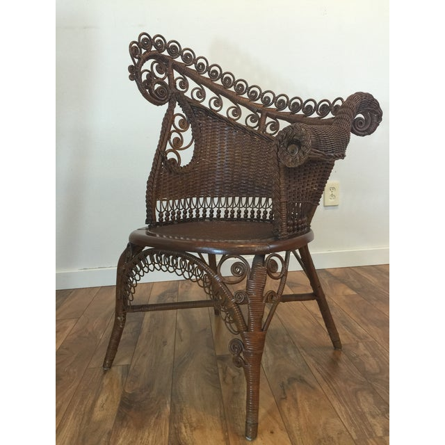 Antique Wicker Photographer's Chairs - A Pair For Sale - Image 10 of 11