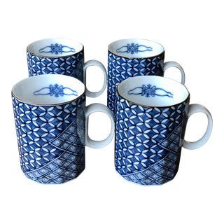 Vintage Fitz and Floyd Asian Mugs - Set of 4 For Sale