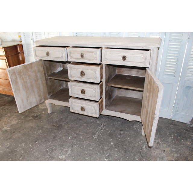 White 20th Century Shabby Chic French Style Painted Sideboard For Sale - Image 8 of 10