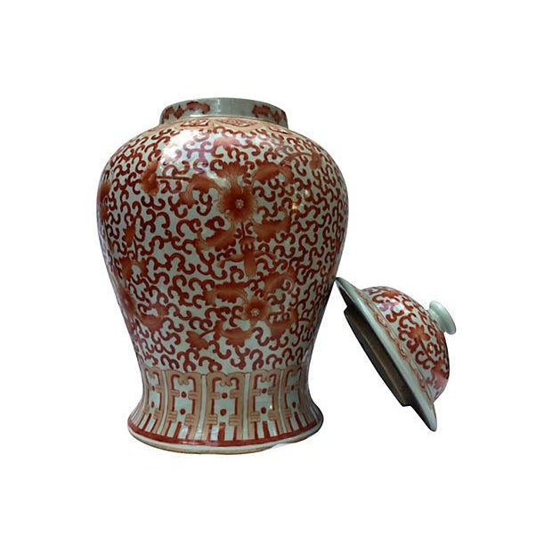 Coral & White Lidded Altar Urn - Image 2 of 5