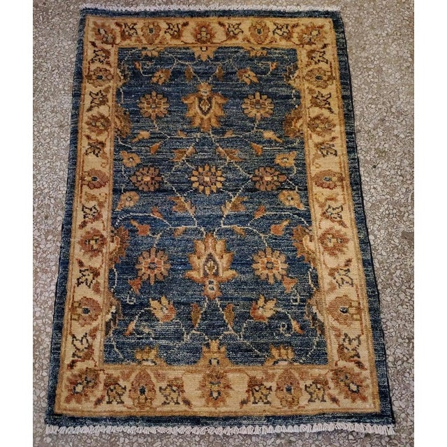 "Textile Afghan Floral Rug-2'x3"" For Sale - Image 7 of 7"