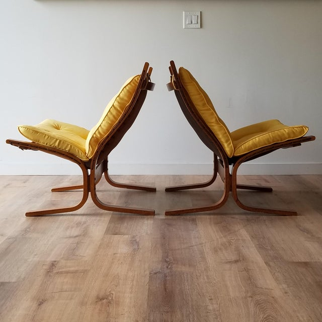 """Westnofa Furniture 1970s Ingmar Relling Newly Upholstered """"Seista"""" Chairs - a Pair For Sale - Image 4 of 13"""