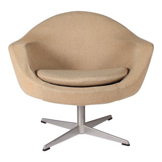 1970s Vintage Swedish Overman Swivel Chair For Sale