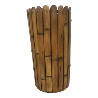 Late 20th Century Bamboo Umbrella Stand For Sale