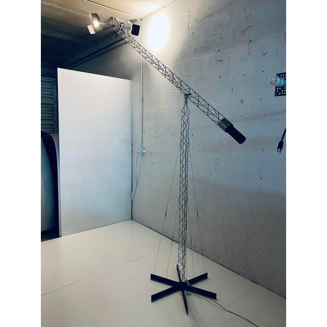 Original Curtis Jere Crane Floor Lamp, 1970s For Sale - Image 12 of 13