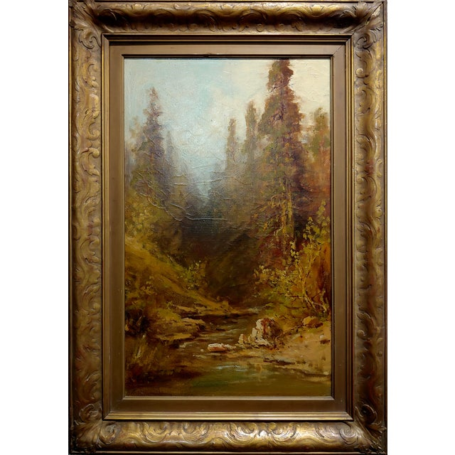 Frederick Ferdinand Schafer - California Wooded River Landscape - 19th century Oil painting oil painting on canvas -...
