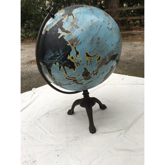 Aviation Globe on Iron Base - Image 3 of 5