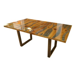 Modern Hand Made Naked Branch Wood Dining Table For Sale