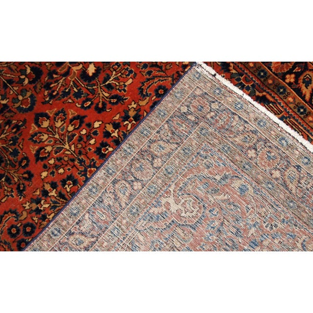 1920s, Handmade Antique Persian Sarouk Rug For Sale - Image 4 of 13