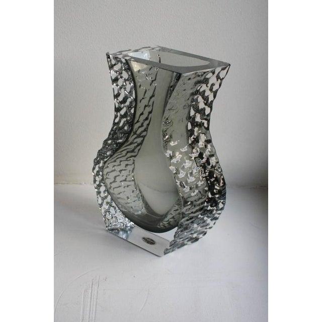 Mandruzzato Murano Art Glass Vase by Cavagnis For Sale In Chicago - Image 6 of 8