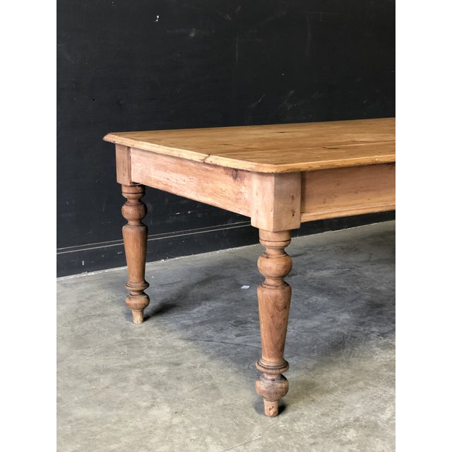 Late 19th Century Antique French Farm Table For Sale - Image 5 of 8