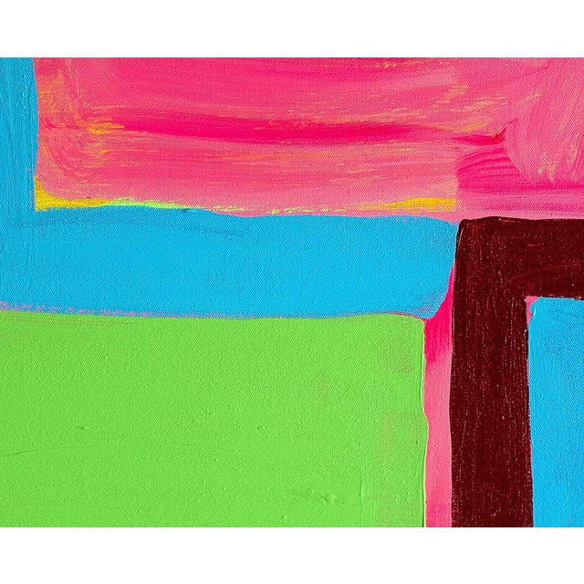 """Abstract Paul Behnke """"Vandervoort Place"""", Painting For Sale - Image 3 of 8"""