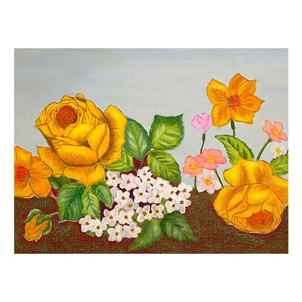 Golden Roses Oil Painting - Image 2 of 3