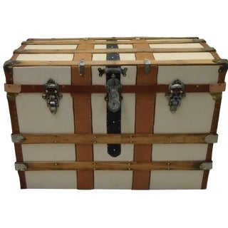 Antique Trunk Off White Canvas Trunk
