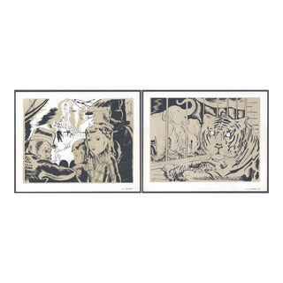 1944 'Circus: # 35 & 39' Lithographs - A Pair For Sale