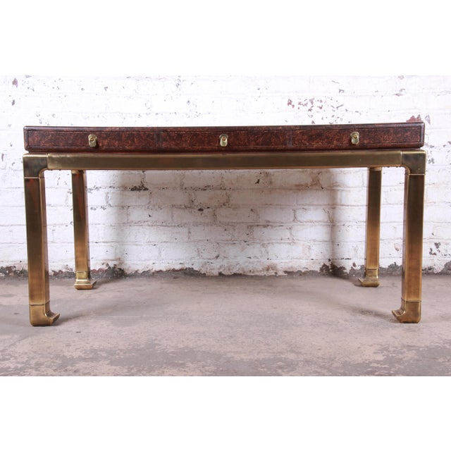 A rare and exceptional mid-century modern Hollywood Regency Chinoiserie writing desk By Mastercraft Furniture USA, Circa...