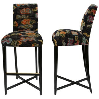 Pair of Donghia Studio X-Barstools For Sale