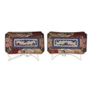 Japanese Decorative Imari Plates - A Pair