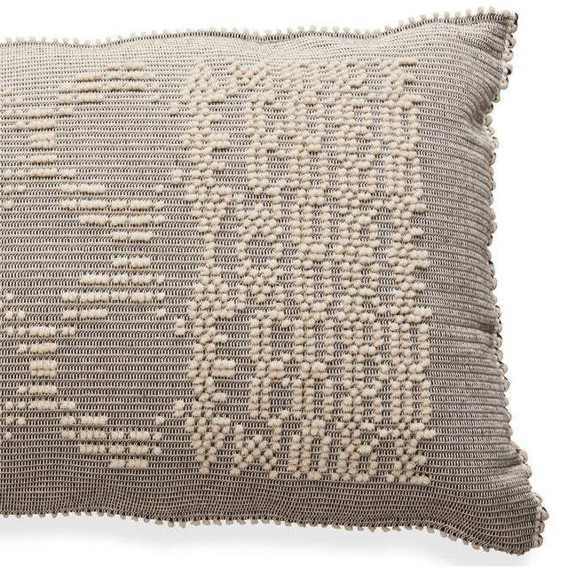 "Boho Chic Schumacher Artigianale Italian Hand-Woven Natural 47"" Oversized Floor Pillow For Sale - Image 3 of 4"