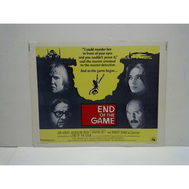 """Vintage """"End of the Game"""" Movie Poster For Sale - Image 4 of 4"""