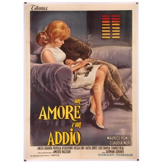 "Vintage 1964 Italian film poster ""Un Amore E Un Addio"" For Sale"