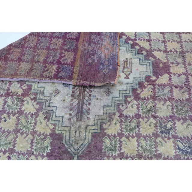 "1970s Boujad Vintage Moroccan Rug, 6'3"" X 9'3"" Feet For Sale - Image 5 of 6"