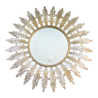 Large Scale Vintage French Sunburst Mirror For Sale