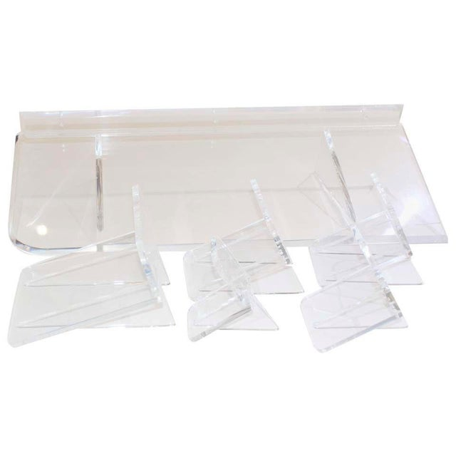 Collection of Lucite Wall Brackets - Set of 6 For Sale - Image 10 of 12