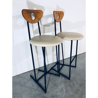 1960s Mid Century Modern Cal-Style Counter Top Bar Stools- A Pair Preview