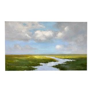 Original Oil Painting Landscape Marsh For Sale