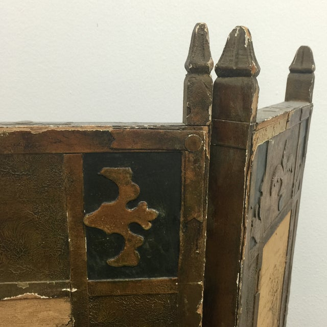 Antique Tapestry Fire Screen For Sale - Image 5 of 7