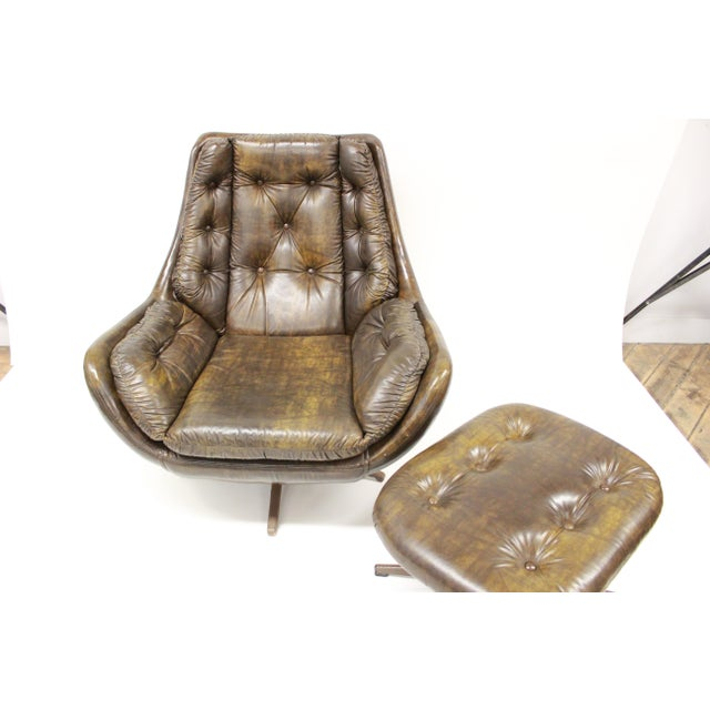 Mid Century Modern Carter Lounge Chair and Ottoman For Sale - Image 11 of 13