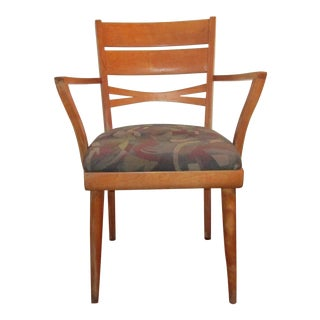 Heywood Wakefield Vintage Birch Wood Side Arm Chair