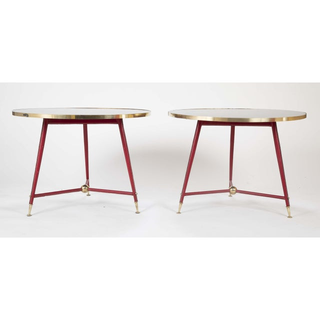 Pair Of Jules Leleu Side Tables For Sale In New York - Image 6 of 13