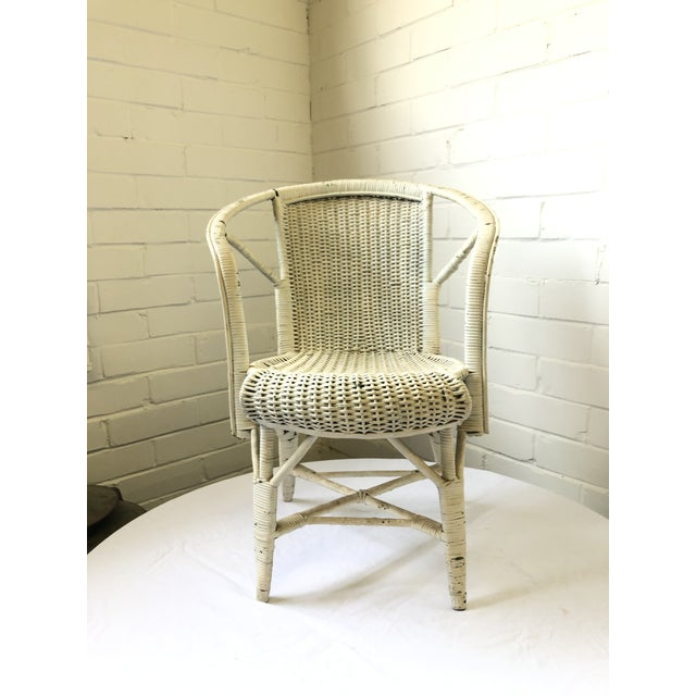 1930s Early 20th Century Wicker Child's Chair For Sale - Image 5 of 13