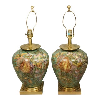 Mosaic Ginger Jar Lamps - a Pair For Sale