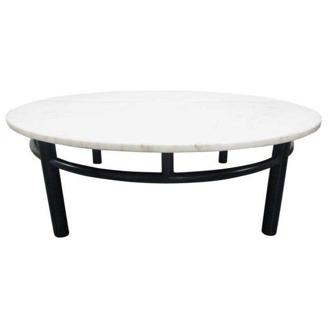 Edward Wormley for Dunbar Marble Top Coffee Table For Sale In New York - Image 6 of 6