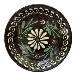 Antique French Pottery Savoie Floral Platter For Sale