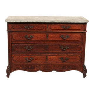 Antique Gustavian-Style Oak Commode For Sale