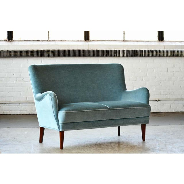 Classic Frits Henningsen Style Settee or Loveseat Danish Midcentury For Sale - Image 9 of 10