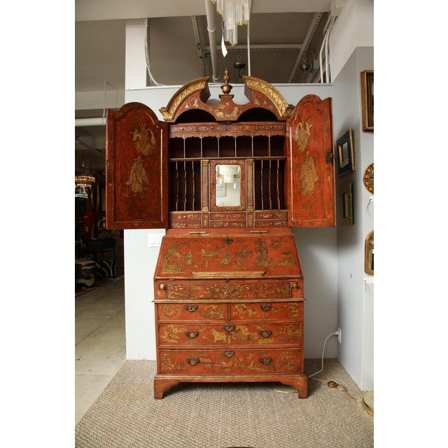 Extraordinary George III Lacquered Secretary For Sale - Image 4 of 14